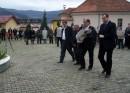 Polaganje cvijeca na Spomen obiljezje braniocima Gorazda